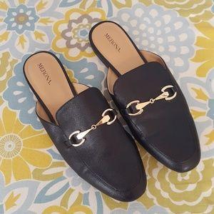 Black Merona Slip On Mules